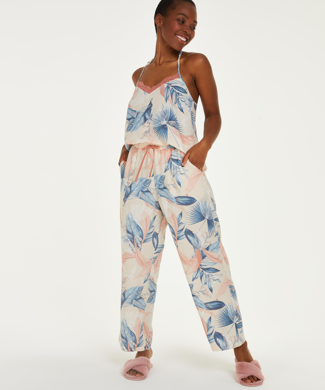 Petite Pantalon de pyjama tissé, Beige, main