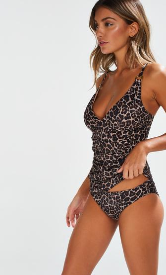 Tankini Leopard, Beige