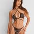 Bas de bikini string échancré Animal HKM x NA-KD, marron