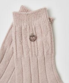 Chaussettes en tricot Doutzen, Rose
