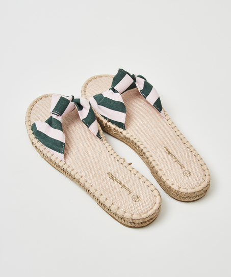 Sandales imprimées en forme de brioche, Vert