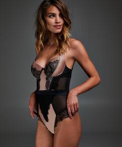 Body à armatures préformé Arianne, Noir