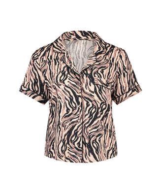 Haut de pyjama Zebra, Beige
