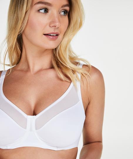 Soutien-gorge à armatures non-préformé minimiseur Nina, Blanc