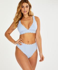 Haut de bikini Triangle Scallop, Bleu