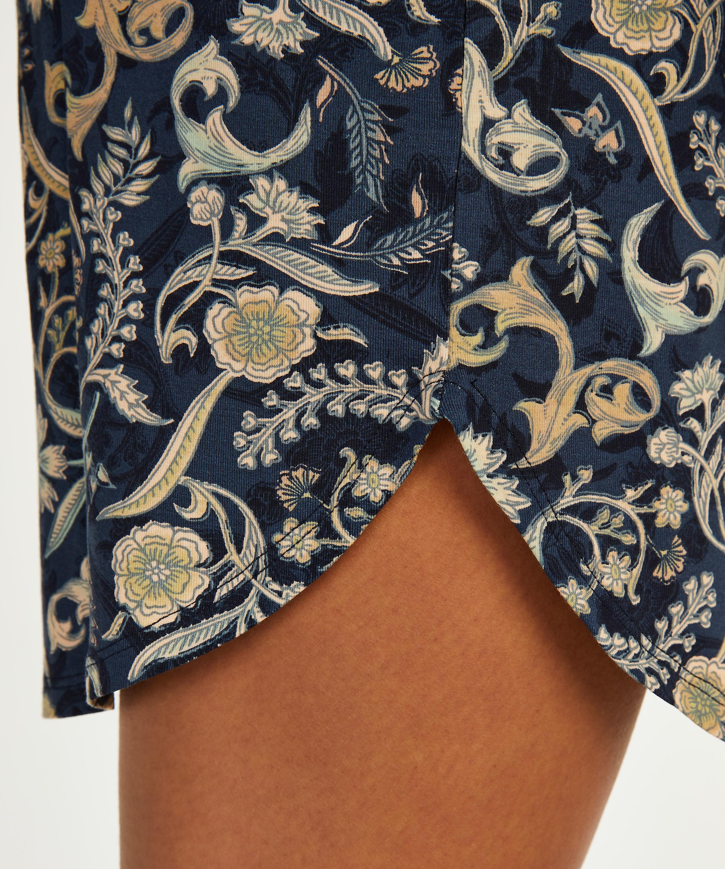Chemise de nuit à manches courtes Jersey, Bleu, main