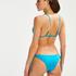 Bas de bikini brésilien Tanga Celine, Bleu
