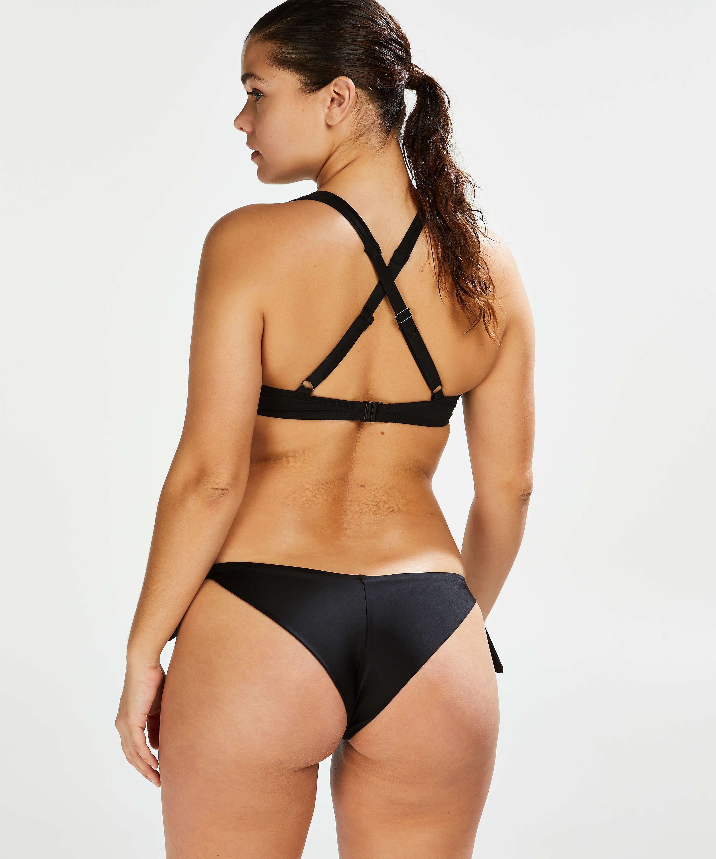 Slip de bikini brésilien Sunset Dream, Noir, main