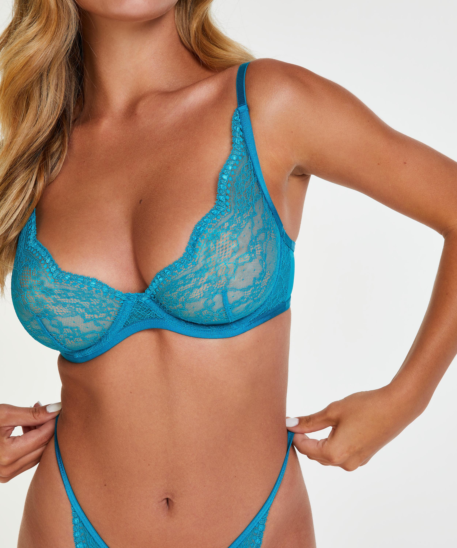 Soutien-gorge à armatures non-préformé Isabelle, Bleu, main