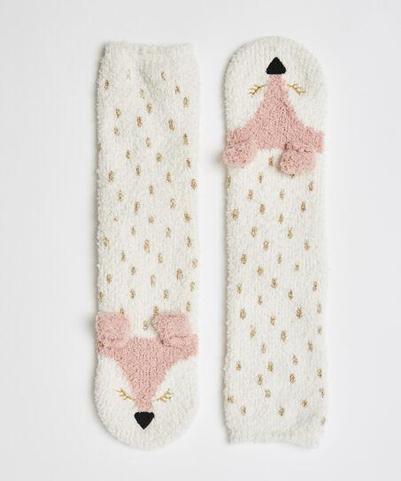 Chaussettes confortables Renard, Blanc