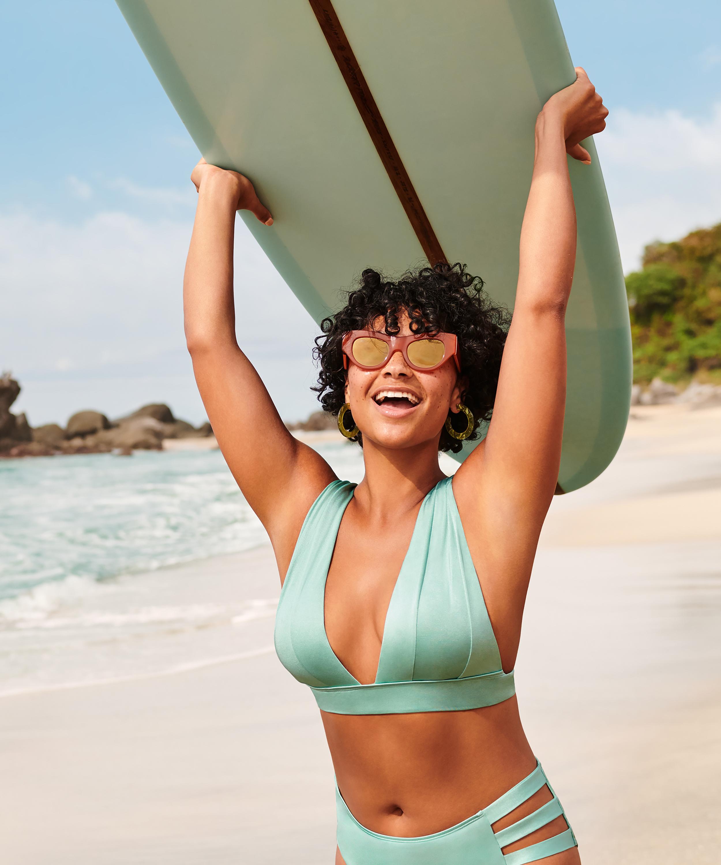 Haut de bikini Triangle SoCal, Vert, main