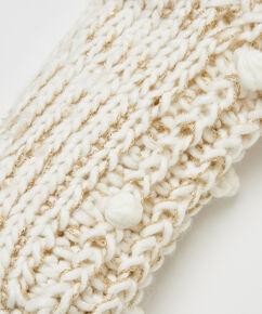 Chaussettes à semelle Lurex, Blanc