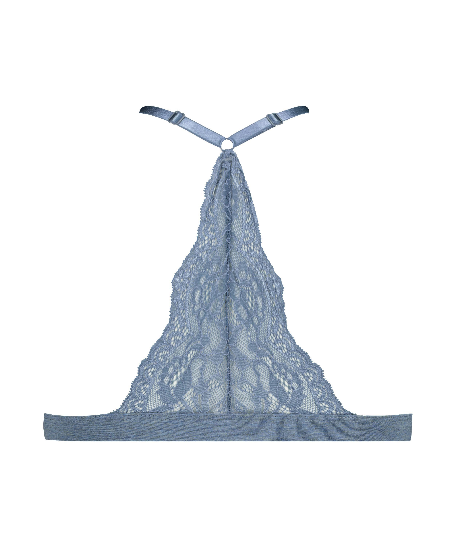 Brassière en triangle préformée Coton Chloe , Bleu, main