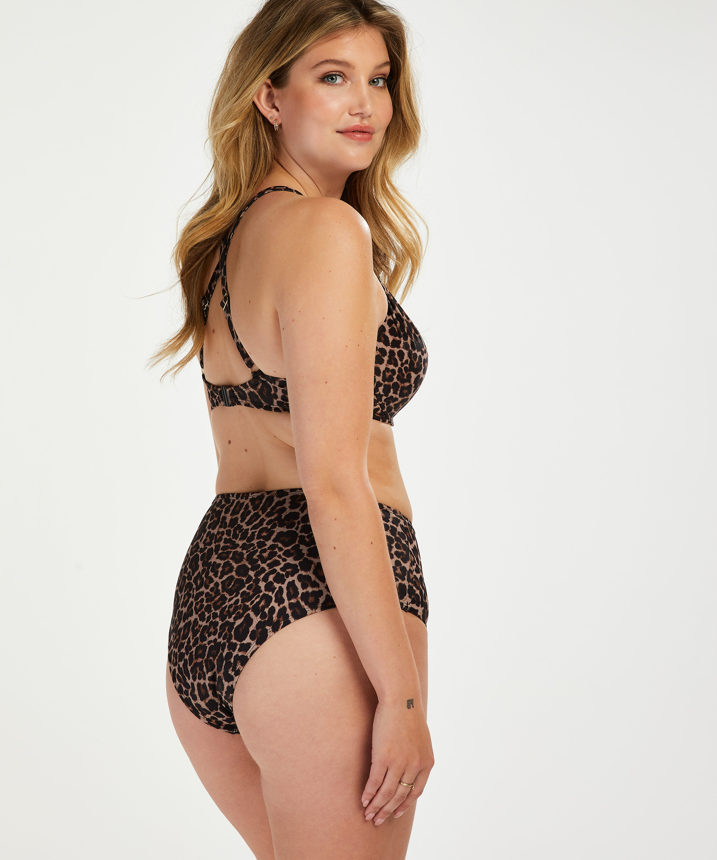 Haut de bikini à armatures préformé Leopard, Beige, main