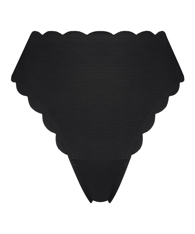 Bas de bikini highleg haut Scallop Glam, Noir, main