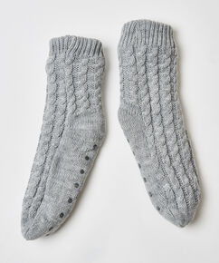 Chaussons Knit, Gris