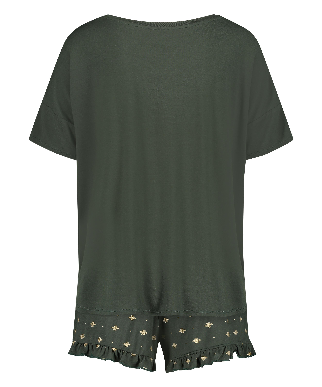 Ensemble de pyjama court, Vert, main