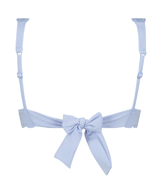 Haut de bikini Triangle Scallop, Bleu, main