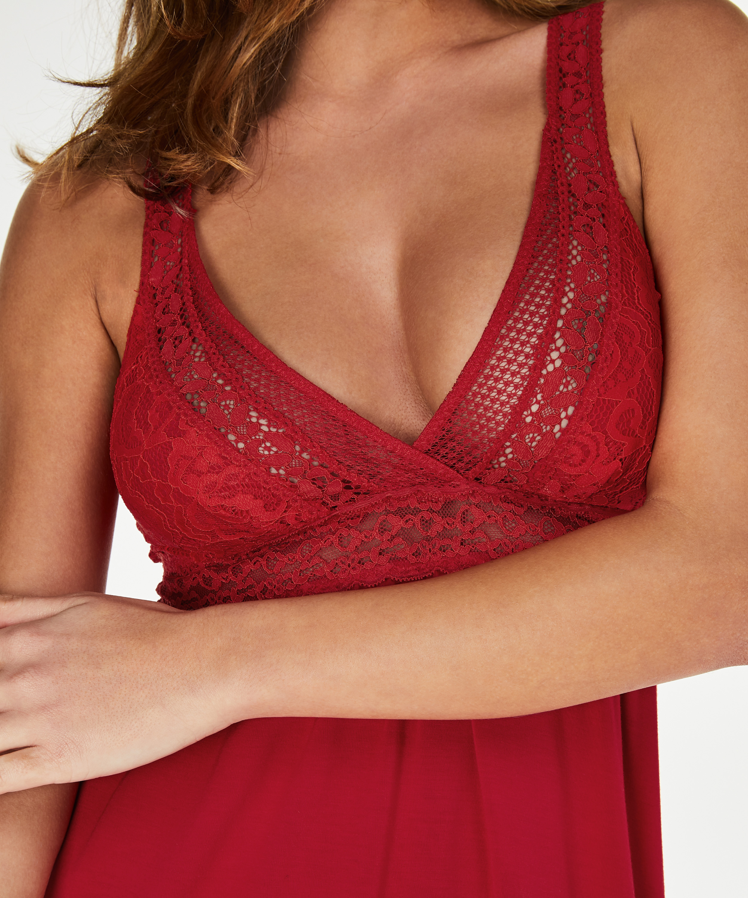 Nuisette Graphic Lace, Rouge, main