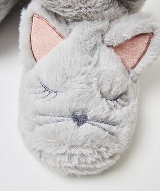 Pantoufles Fox, Gris