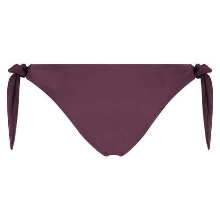 Bas de bikini taille basse coquin en mesh Borneo, Violet