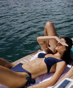 Haut de bikini à armatures non préformé Harper, Bleu