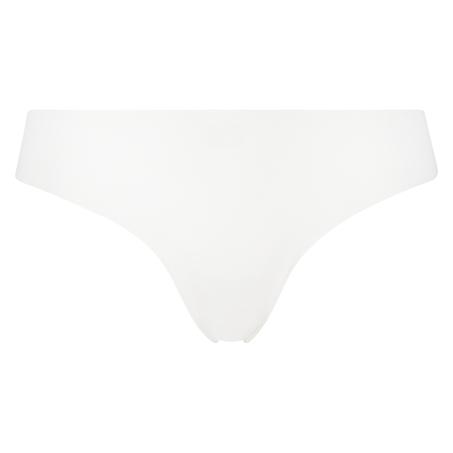 String invisible en coton, Blanc