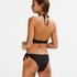 Haut de bikini à armatures à effet push-up préformé Scallop Taille A - E, Noir