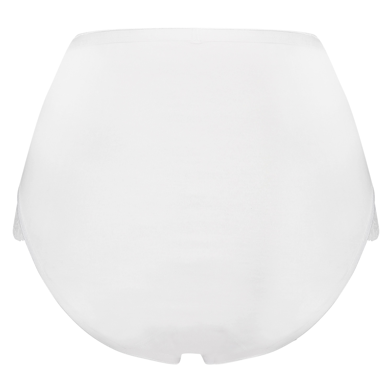 Superslip Lace Maxi coton, Blanc, main