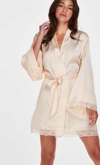 Kimono Satin Meili, Beige