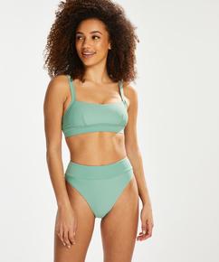 Bas de bikini taille haute Sienna, Vert
