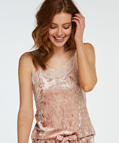Top Velours Lace, Rose