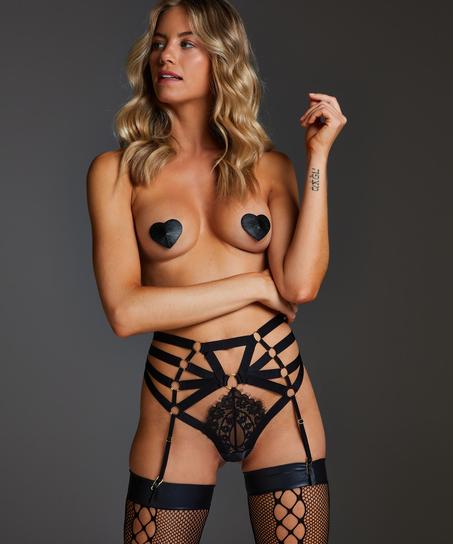 String haut Femme, Noir
