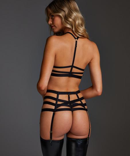 String taille haute Ivy, Noir