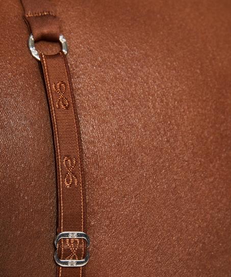 Soutien-gorge t-shirt basic, marron
