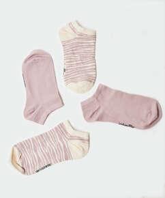 Lot de 2 paires de chaussettes en coton Trainerliners , Violet