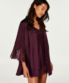 Kimono Lace Satin Indra Petite, Violet