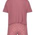 Ensemble de pyjama court, Rose