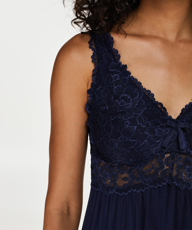 Nuisette Modal Lace, Bleu, main