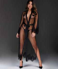 Kimono Long Cravache, Noir