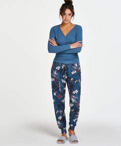 Pantalon de pyjama Jersey, Bleu