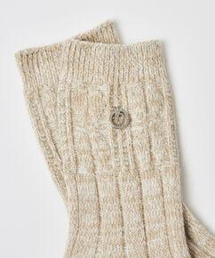 Chaussettes en tricot Doutzen, Blanc