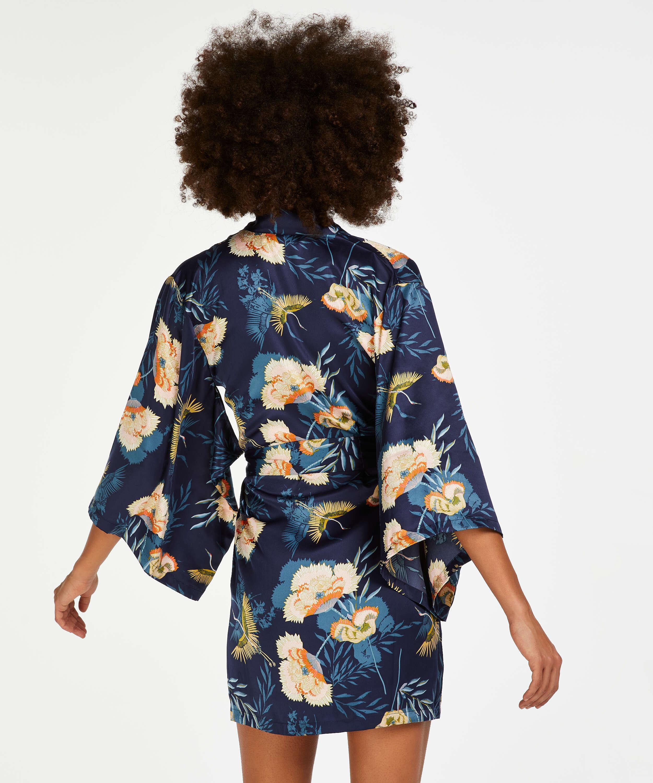 Kimono Lotus Bird, Bleu, main