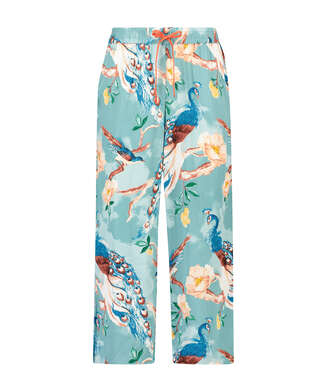 Pantalon de pyjama Painted Peacock, Bleu