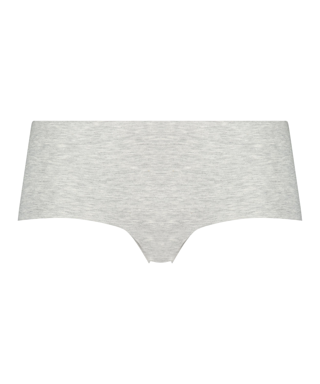 Boxer invisible en coton, Gris, main