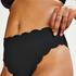 Bas de bikini highleg haut Scallop Glam, Noir