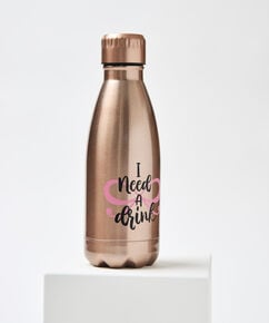 Bouteille thermos I need a Drink, Rose