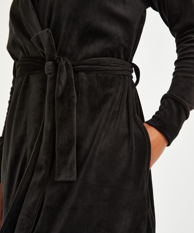 Peignoir Velvet, Noir, main