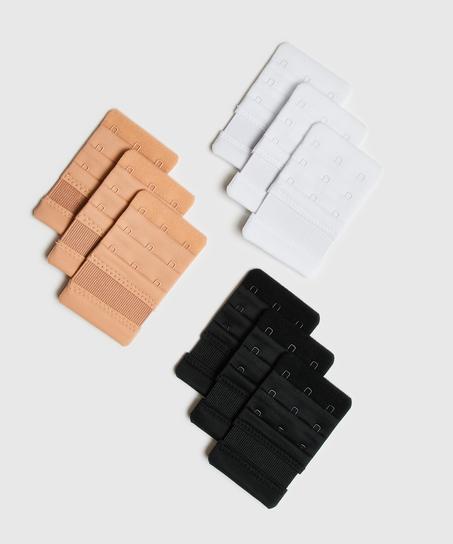 Rallonge de soutien-gorge 3 crochets, Blanc
