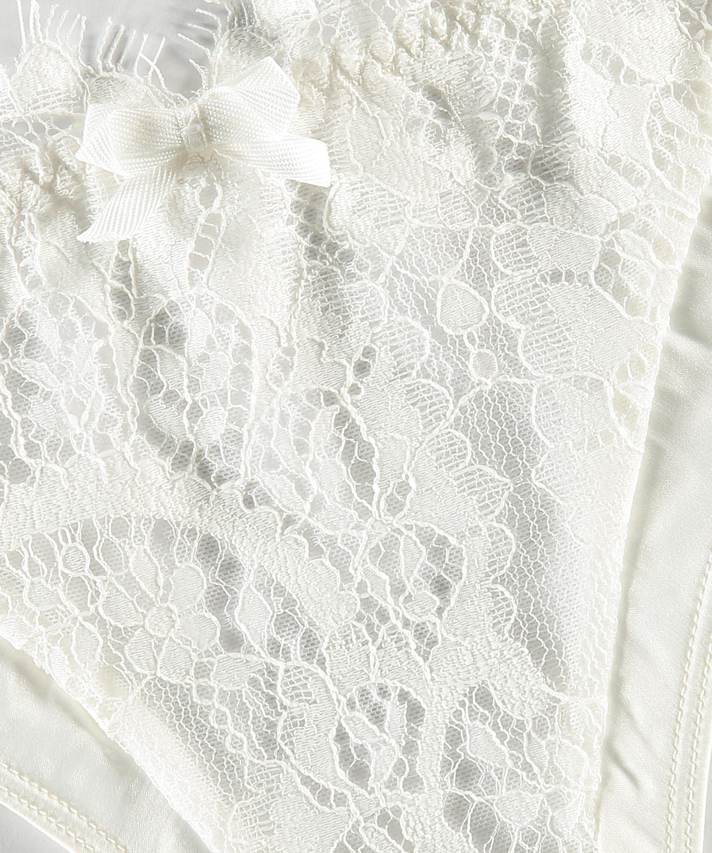 Culotte brésilienne Hannako, Blanc, main
